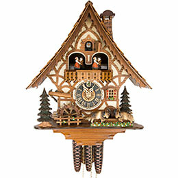 Cuckoo Clock 1-day-movement Chalet-Style 34cm by Hönes