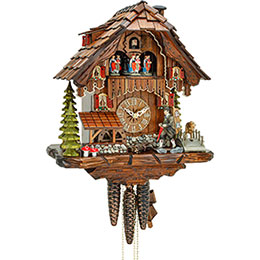 Cuckoo Clock 1-day-movement Chalet-Style 34cm by Hekas