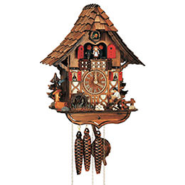 Cuckoo Clock 1-day-movement Chalet-Style 35cm by Anton Schneider