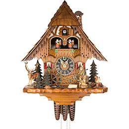 Cuckoo Clock 1-day-movement Chalet-Style 35cm by Hönes