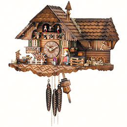 Cuckoo Clock 1-day-movement Chalet-Style 35cm by Hekas