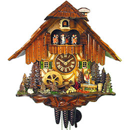 Cuckoo Clock 1-day-movement Chalet-Style 36cm by August Schwer