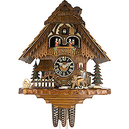 Cuckoo Clock 1-day-movement Chalet-Style 36cm by Hönes