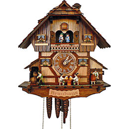 Cuckoo Clock 1-day-movement Chalet-Style 41cm by Anton Schneider