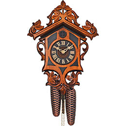 Cuckoo Clock 8-day-movement Carved-Style 27cm by Anton Schneider
