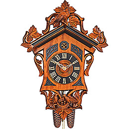Cuckoo Clock 8-day-movement Carved-Style 36cm by Anton Schneider