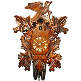 Cuckoo Clock 8-day-movement Carved-Style 50cm by August Schwer