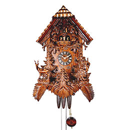 Cuckoo Clock 8-day-movement Carved-Style 54cm by August Schwer