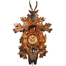 Cuckoo Clock 8-day-movement Carved-Style 59cm by August Schwer