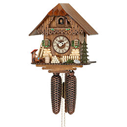Cuckoo Clock 8-day-movement Chalet-Style 25cm by Hekas