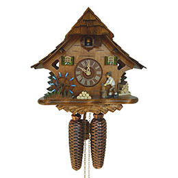 Cuckoo Clock 8-day-movement Chalet-Style 27cm by Anton Schneider