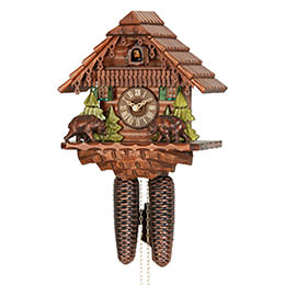 Cuckoo Clock 8-day-movement Chalet-Style 27cm by Hekas