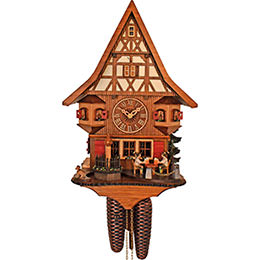 Cuckoo Clock 8-day-movement Chalet-Style 28cm by Anton Schneider