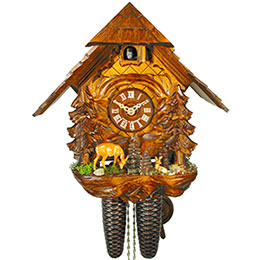 Cuckoo Clock 8-day-movement Chalet-Style 30cm by August Schwer
