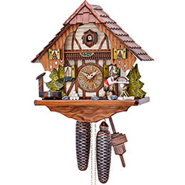 Cuckoo Clock 8-day-movement Chalet-Style 32cm by Hekas