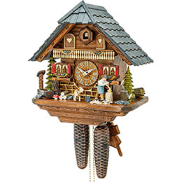 Cuckoo Clock 8-day-movement Chalet-Style 33cm by Hekas