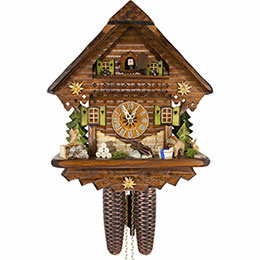 Cuckoo Clock 8-day-movement Chalet-Style 34cm by Cuckoo-Palace