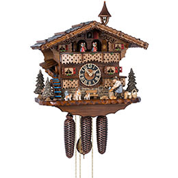 Cuckoo Clock 8-day-movement Chalet-Style 34cm by H�nes