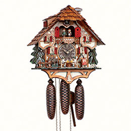 Cuckoo Clock 8-day-movement Chalet-Style 36cm by Anton Schneider