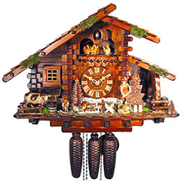 Cuckoo Clock 8-day-movement Chalet-Style 36cm by August Schwer