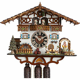 Cuckoo Clock 8-day-movement Chalet-Style 36cm by H�nes