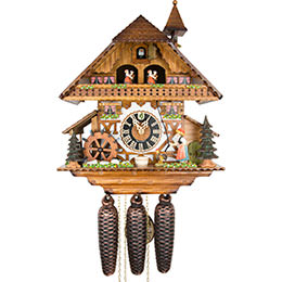 Cuckoo Clock 8-day-movement Chalet-Style 38cm by Hönes