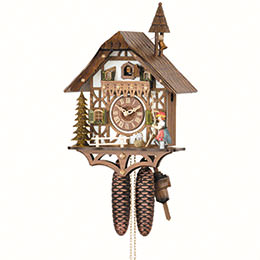 Cuckoo Clock 8-day-movement Chalet-Style 39cm by Hekas