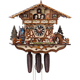 Cuckoo Clock 8-day-movement Chalet-Style 40cm by H�nes