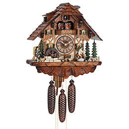 Cuckoo Clock 8-day-movement Chalet-Style 40cm by Hekas