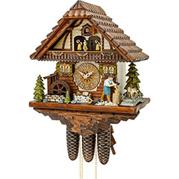 Cuckoo Clock 8-day-movement Chalet-Style 43cm by Hekas