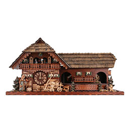 Cuckoo Clock 8-day-movement Chalet-Style 45cm by Rombach & Haas