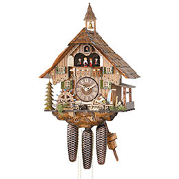 Cuckoo Clock 8-day-movement Chalet-Style 47cm by Hekas