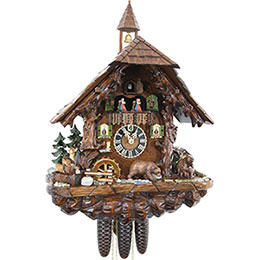 Cuckoo Clock 8-day-movement Chalet-Style 48cm by Hönes