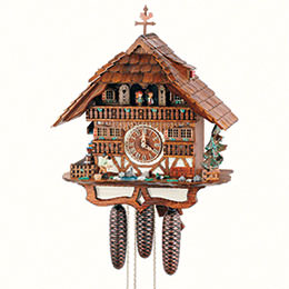 Cuckoo Clock 8-day-movement Chalet-Style 49cm by Anton Schneider