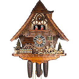 Cuckoo Clock 8-day-movement Chalet-Style 49cm by Hönes