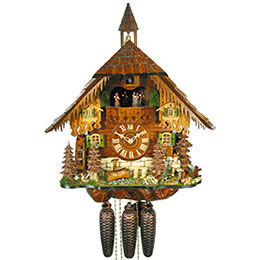 Cuckoo Clock 8-day-movement Chalet-Style 50cm by August Schwer