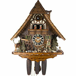 Cuckoo Clock 8-day-movement Chalet-Style 50cm by Hönes