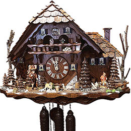 Cuckoo Clock 8-day-movement Chalet-Style 52cm by August Schwer