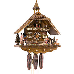 Cuckoo Clock 8-day-movement Chalet-Style 52cm by Hönes