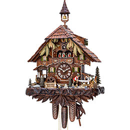 Cuckoo Clock 8-day-movement Chalet-Style 52cm by Hekas