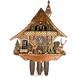 Cuckoo Clock 8-day-movement Chalet-Style 54cm by Hönes