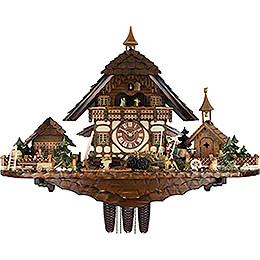 Cuckoo Clock 8-day-movement Chalet-Style 55cm by August Schwer