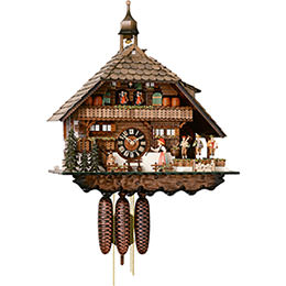 Cuckoo Clock 8-day-movement Chalet-Style 55cm by Hönes