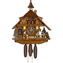 Cuckoo Clock 8-day-movement Chalet-Style 55cm by H�nes