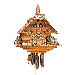 Cuckoo Clock 8-day-movement Chalet-Style 55cm by Hubert Herr
