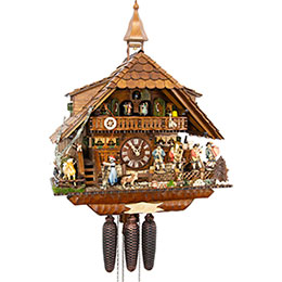 Cuckoo Clock 8-day-movement Chalet-Style 56cm by August Schwer