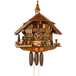 Cuckoo Clock 8-day-movement Chalet-Style 58cm by Hönes