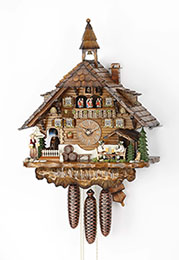 Cuckoo Clock 8-day-movement Chalet-Style 60cm by Hekas