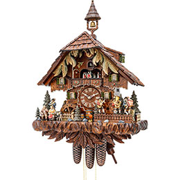 Cuckoo Clock 8-day-movement Chalet-Style 63cm by Hekas