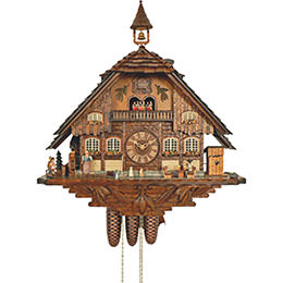 Cuckoo Clock 8-day-movement Chalet-Style 70cm by Anton Schneider